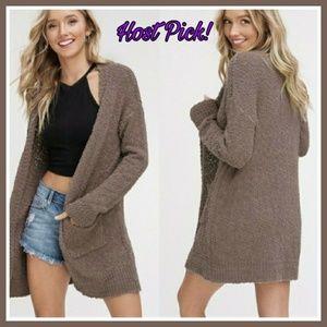 HOST PICK! Mocha Popcorn Cardigan Sweater